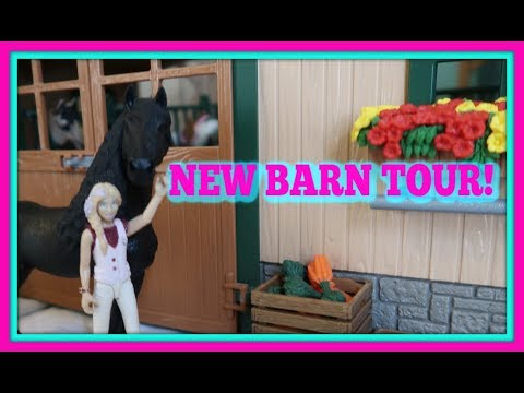 😍NEW! UPDATED SCHLEICH BARN AND STABLE TOUR!🐎FIRST DAY TV