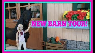 NEW UPDATED SCHLEICH BARN AND STABLE TOUR FIRST DAY TV