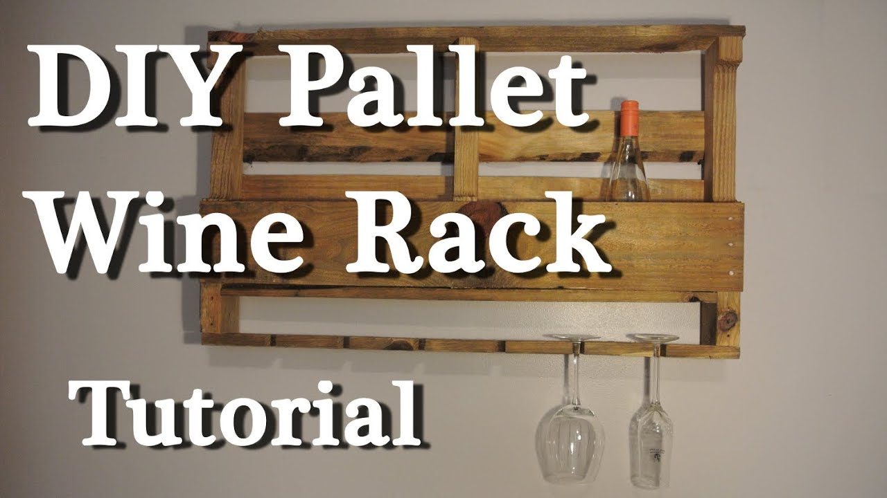 Pallet Wine Rack Diy Tutorial Youtube