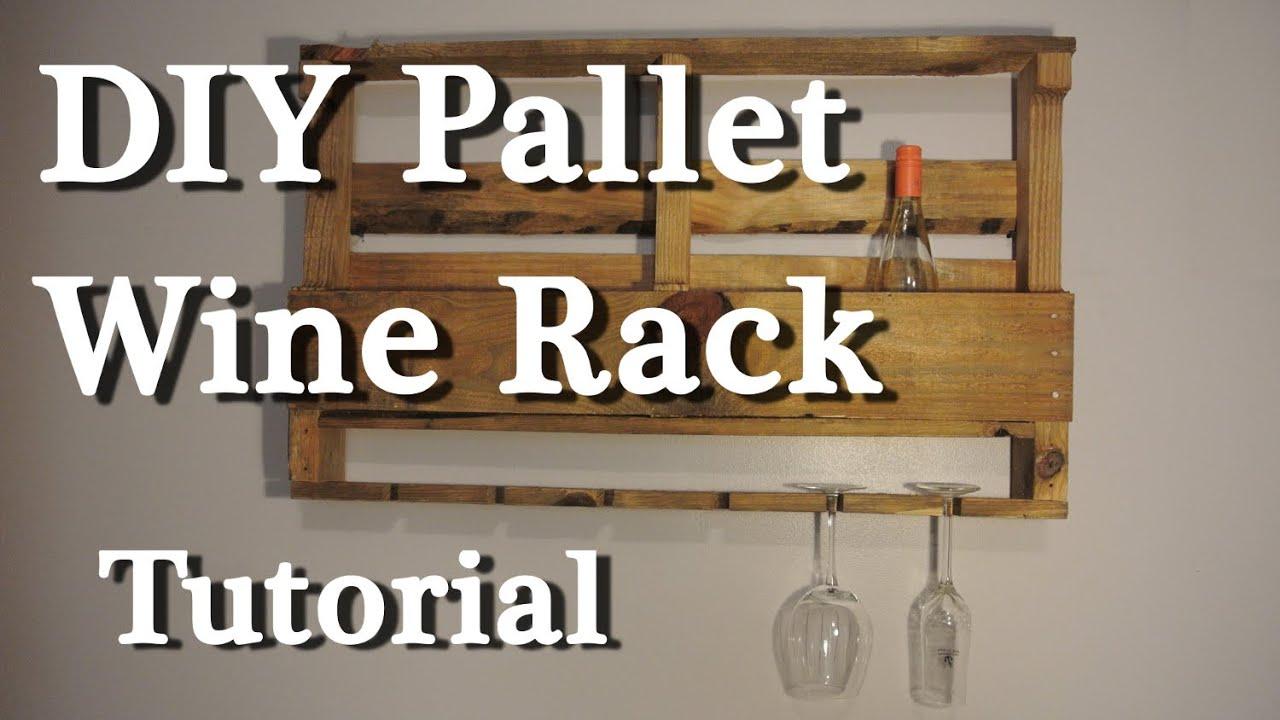Pallet wine rack - DIY tutorial - YouTube