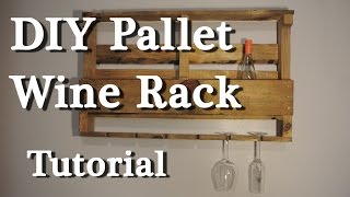 Pallet wine rack - DIY tutorial