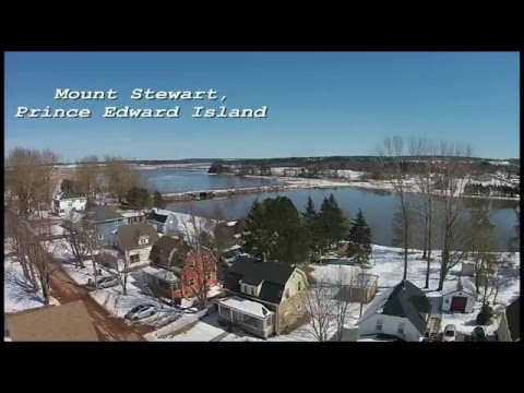 DJI Phantom over Mount Stewart, Prince Edward Island CANADA