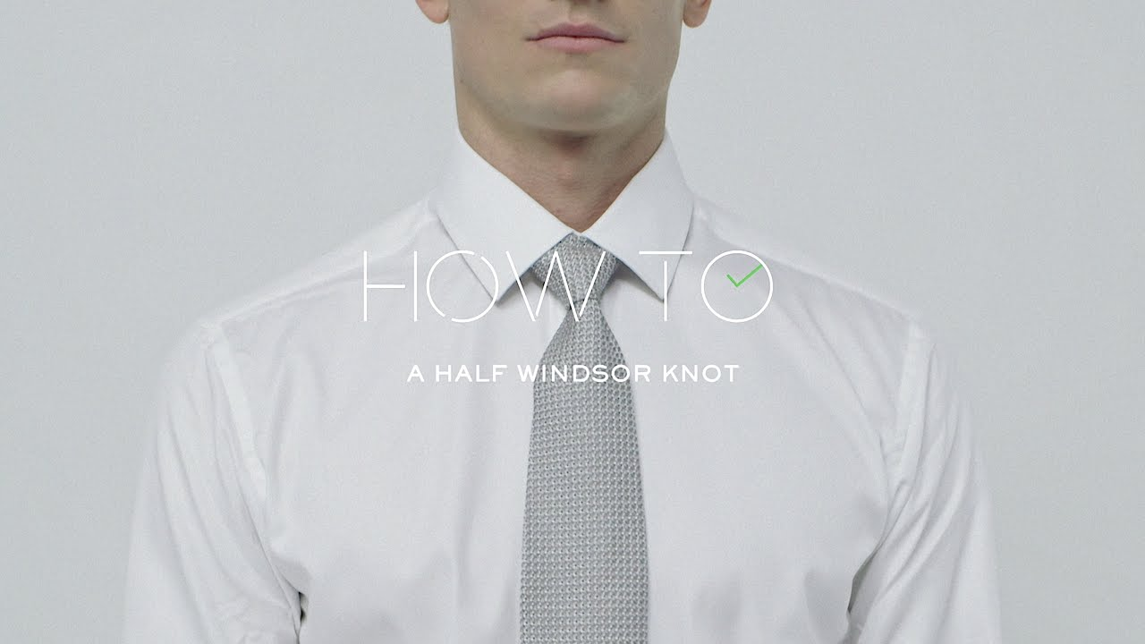 How To Tie A Halfwindsor Tie Knot