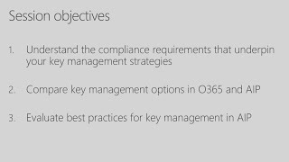 Encryption key management strategies for compliance - BRK2000