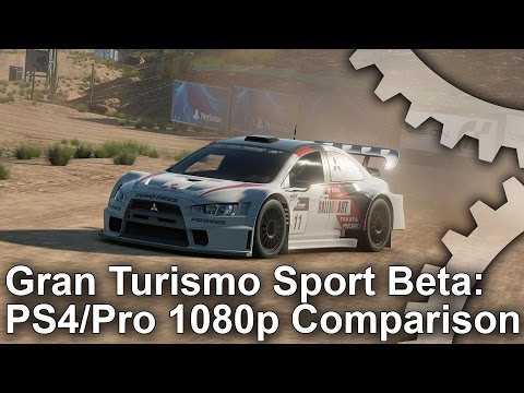 Gran Turismo Sport Beta: PS4 vs PS4 Pro 1080p Comparison + Frame-Rate Test