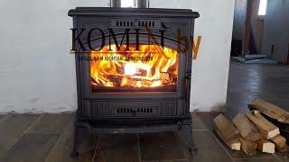 Kratki Koza K6. Первый запуск. Обзор и работа печи после монтажа дымохода.
