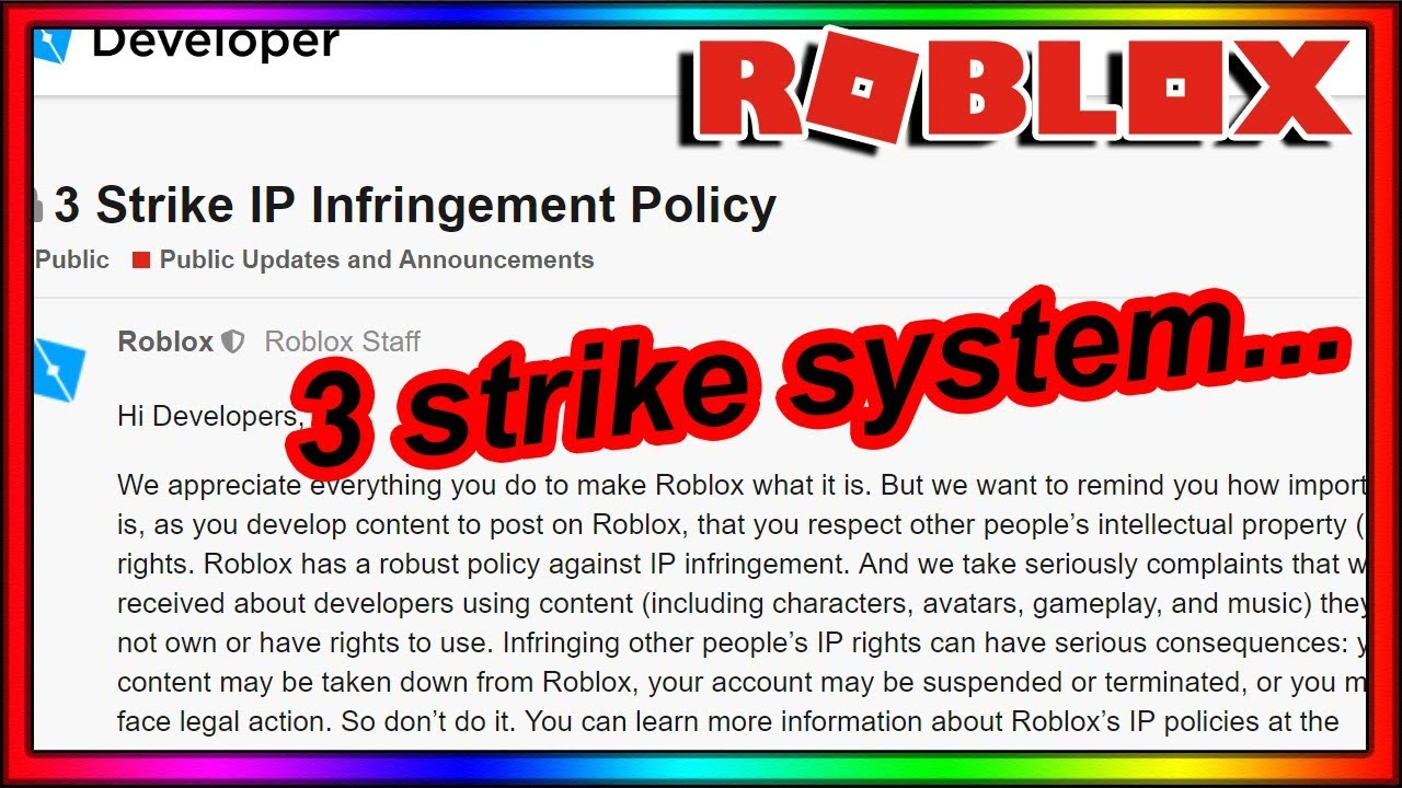 Roblox Just Got Really Strict With Copyright Youtube