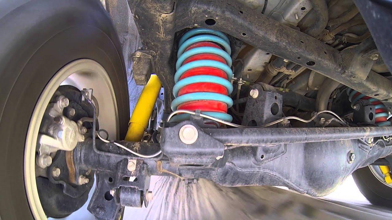 8 Inch Lift Kit >> Dobinson's 2 inch lift Springs, Shocks and Airbags on a Prado 150 2014 Facelift model - YouTube