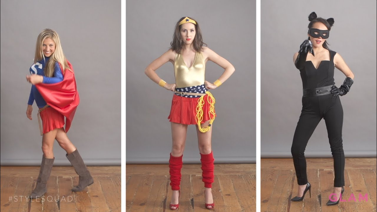 Diy superhero halloween costumes style squad glam youtube solutioingenieria Choice Image
