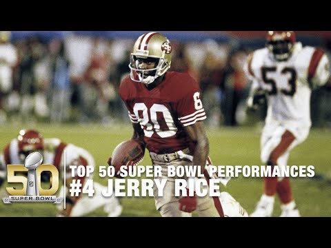 #4: Jerry Rice Super Bowl  XXIII Highlights | Bengals vs. 49ers | Top 50 SB Performances
