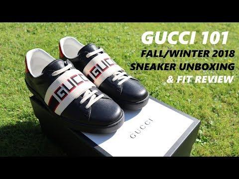 FW18 Gucci Ace Stripe Sneaker Fit