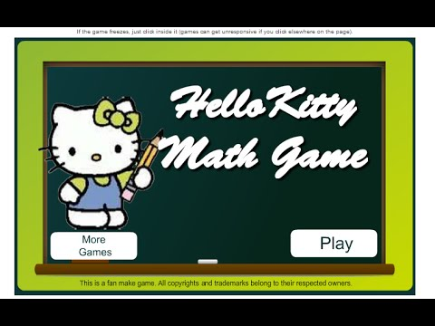 Hello Kitty Online Games - Hello Kitty Math Game