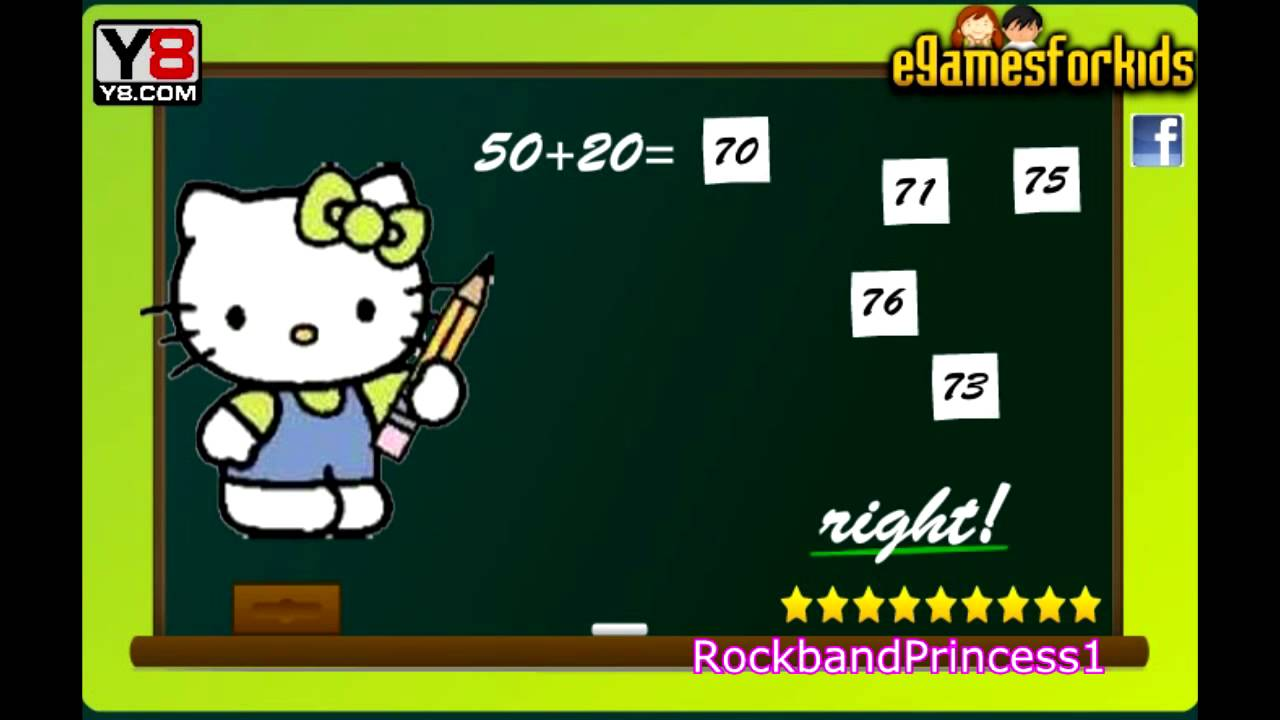 Hello Kitty Online Games - Hello Kitty Math Game - YouTube