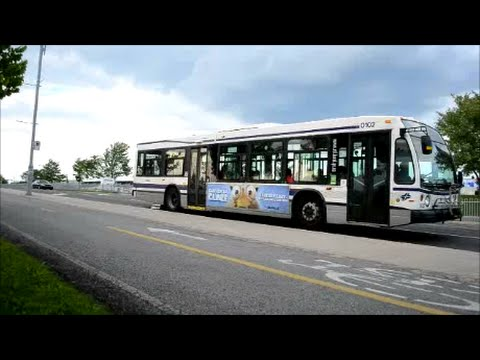 TRANSIT BUSES DRIVING IN LAVAL QUEBEC CANADA