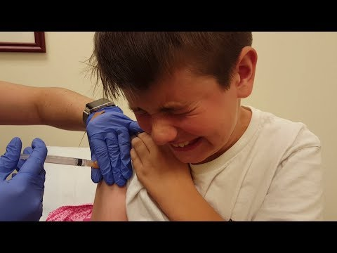 Kid Temper Tantrum Gets A Flu Shot [ Original ]