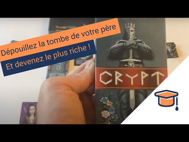 Les règles du jeu de société Crypt - Pitexplique #22