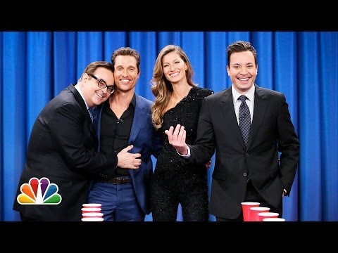 Flip Cup with Gisele Bundchen and Matthew McConaughey (Late Night with Jimmy Fallon)