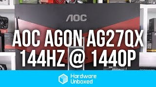 aoc agon ag271qx monitor 144hz of buttery goodness 1440p