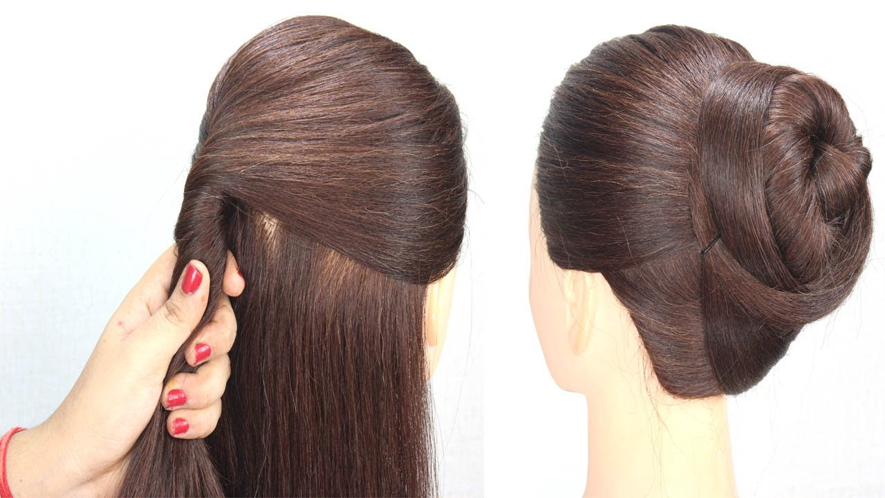 very easy everyday hairstyle for girls    hair style girl    quick hairstyle    easy hairstyle