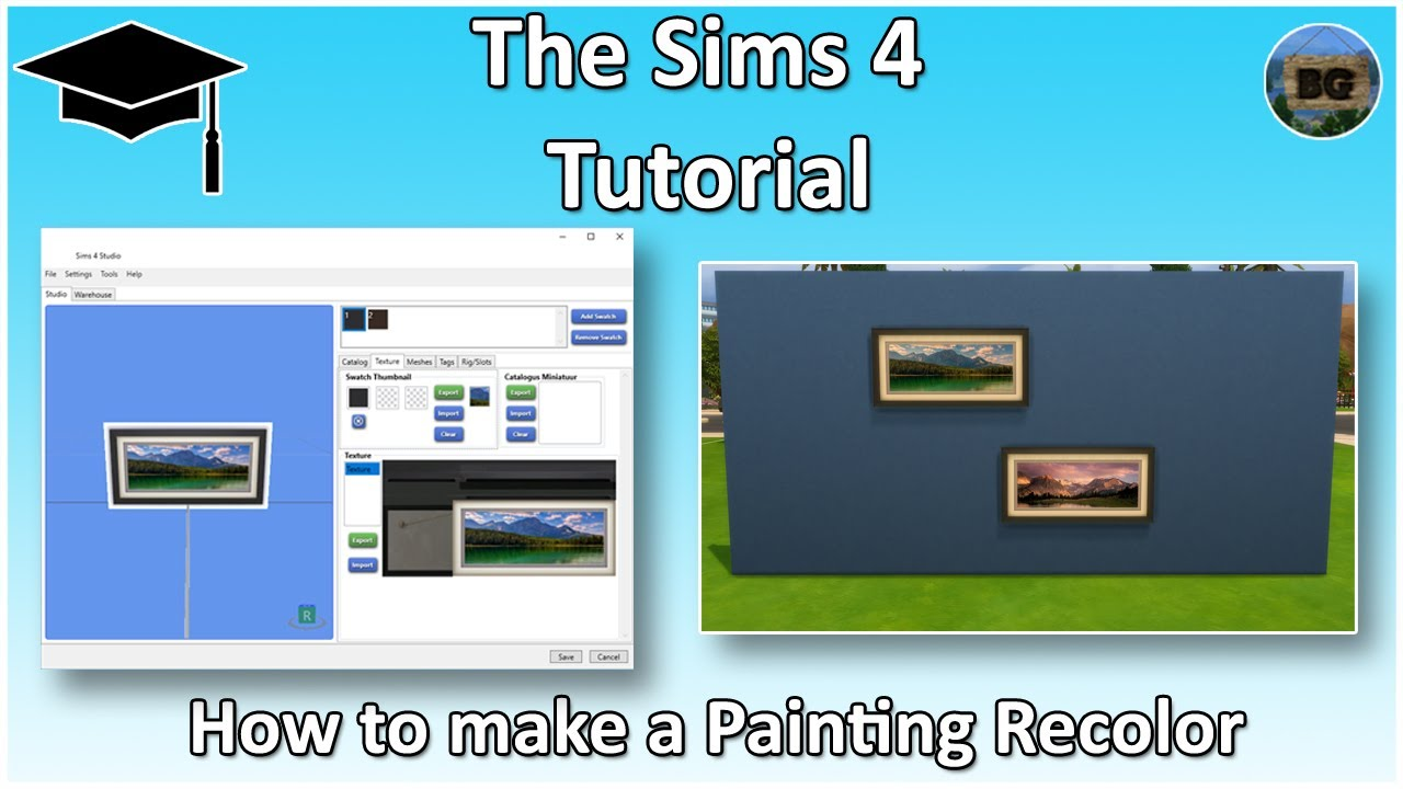The sims 4 tutorial how to make your own custom painting for Creating a mural