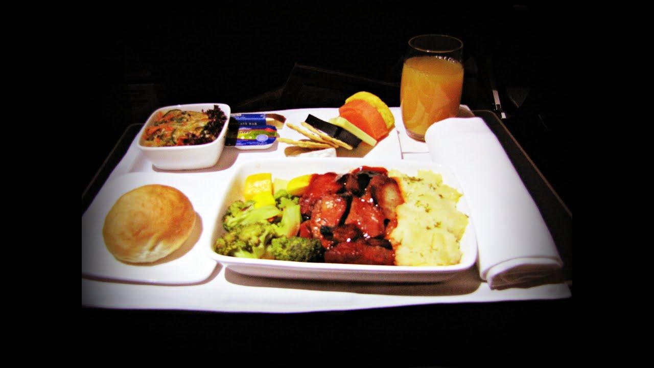 Japan Airlines Food Menu