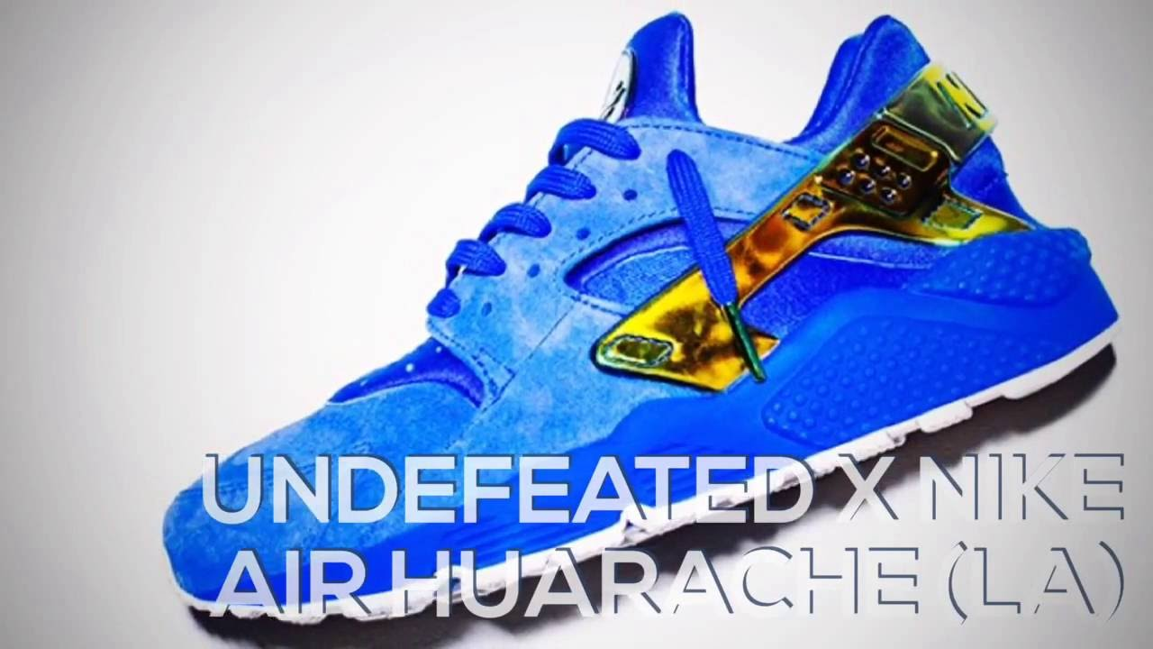 c7675620f195a UNDEFEATED X NIKE AIR HUARACHE (LA)   PEACE X9 - YouTube