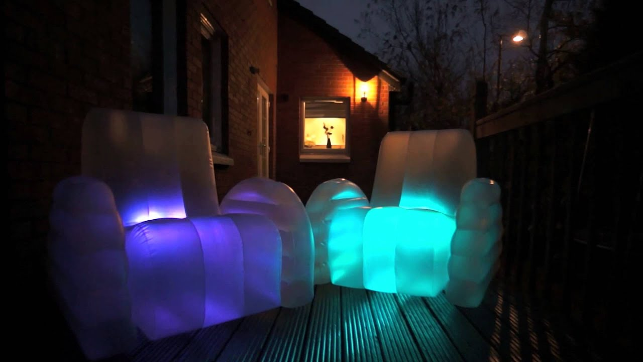 Starlite Luna - Inflatable LED Chair - YouTube