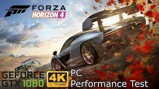 Forza Horizon 4 PC Demo - GeForce GTX 1080 4K Performance Test (Ultra Settings)
