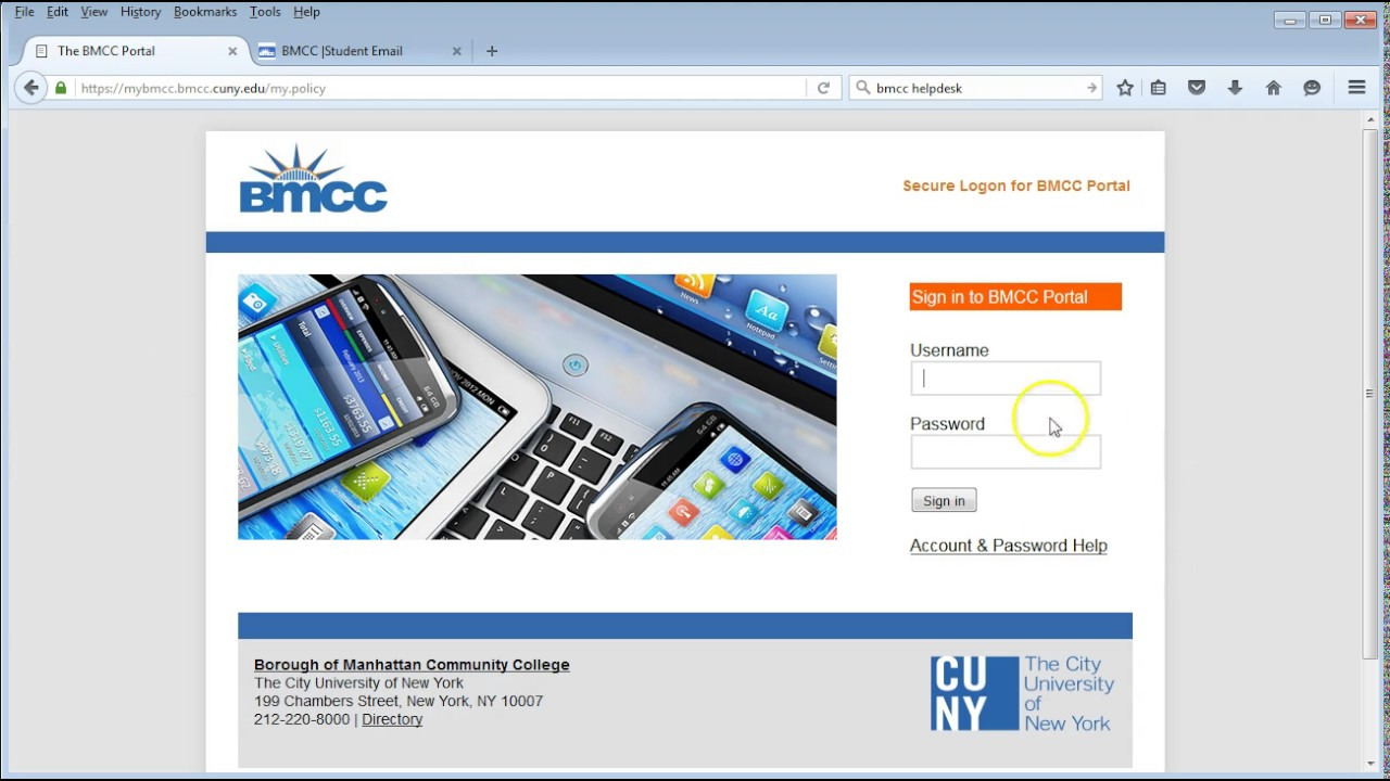 BMCC E Learning: Activate Your E Mail