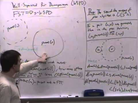 Computational Geometry Lecture 21: Well-separated pair decompositions