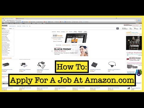 How To Apply For A Job At Amazon.com