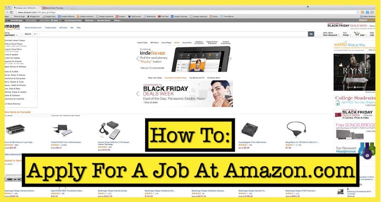 How to apply for a job at amazon youtube falaconquin