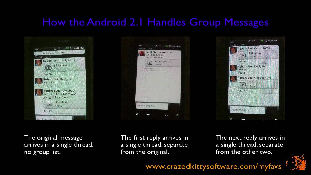 Group Messaging - iPhone iOS4 Does - Android 2 1 Doesn't