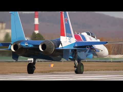 Пилотажная группа «Русские витязи» получила новые истребители Су-35С