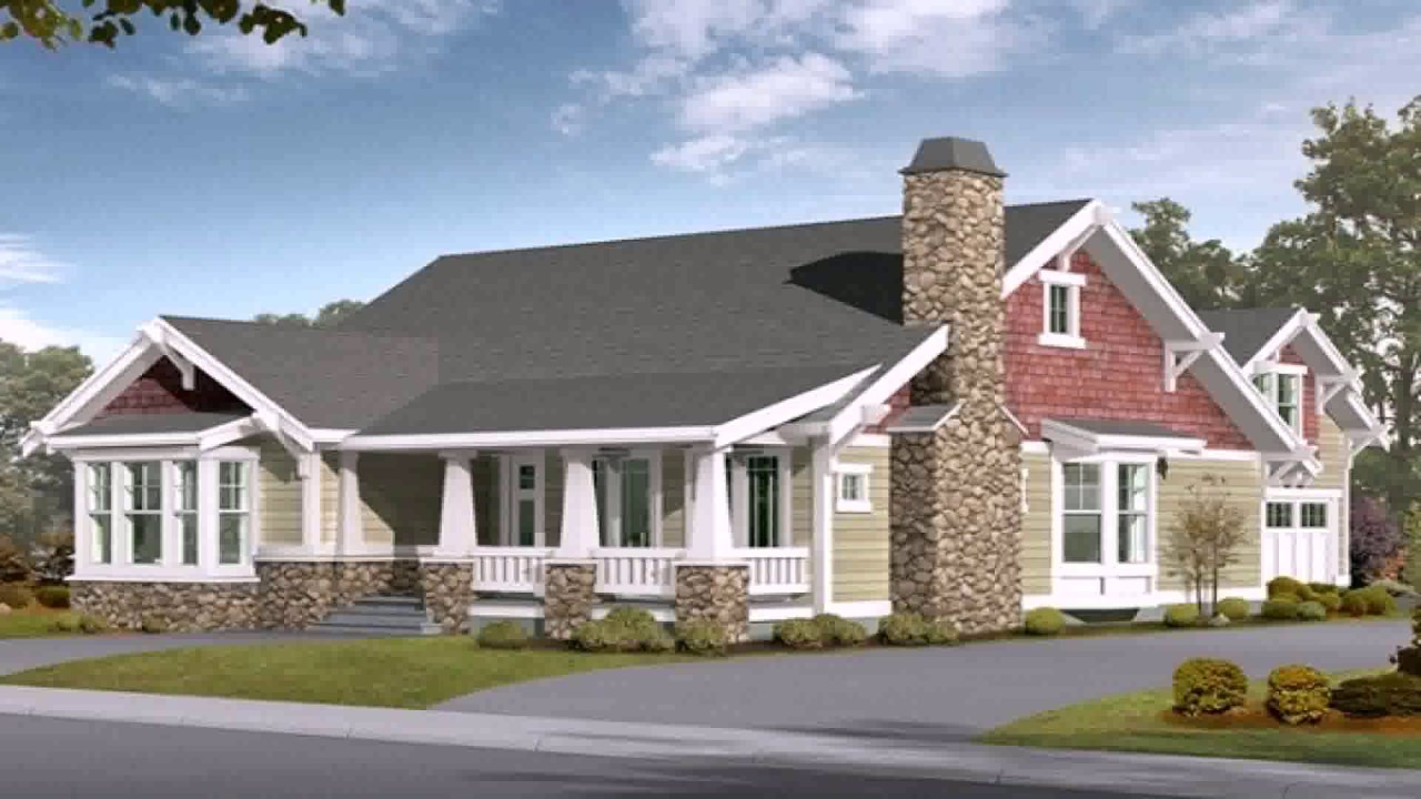 Craftsman Style House Plans With Wrap Around Porch Youtube