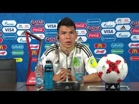 MEX v RUS - Hirving Lozano - Mexico Post-Match Press Confere