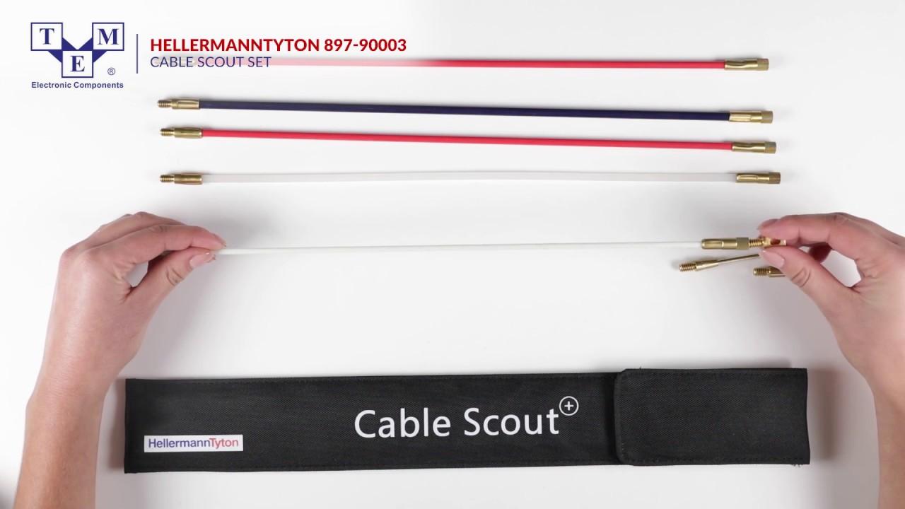 HELLERMANNTYTON 897-90003- cable scout set UNBOXING
