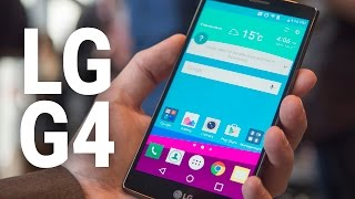 LG G4 hands-on video(We go hands-on with the all-new LG G4! It's 5.5 inches of quantum dot ceramic leather awesomeness. If it looks familiar, it should. LG has kept the same styling ..., 2015-04-28T15:55:36.000Z)