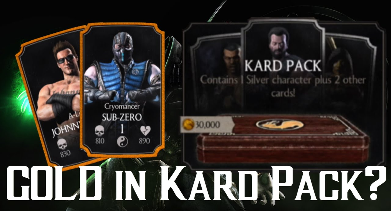Can you get a GOLD in the KARD PACK? | Mortal Kombat X | iOS, Android