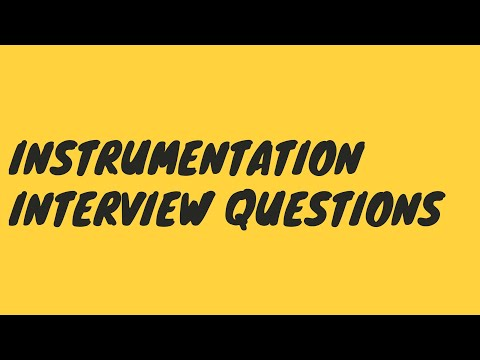 Instrumentation Technician Interview Tips