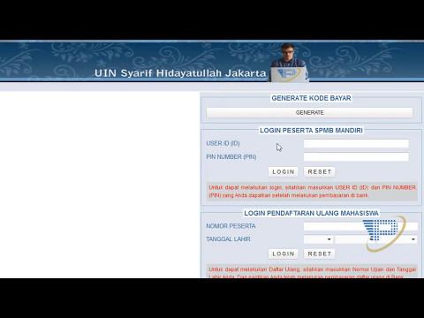 SPMB MANDIRI 2017 UIN Syarif Hidayatullah Jakarta