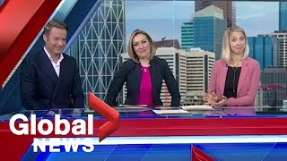 """News blooper: Anchors can't stop laughing at """"play with yourself"""" line"""