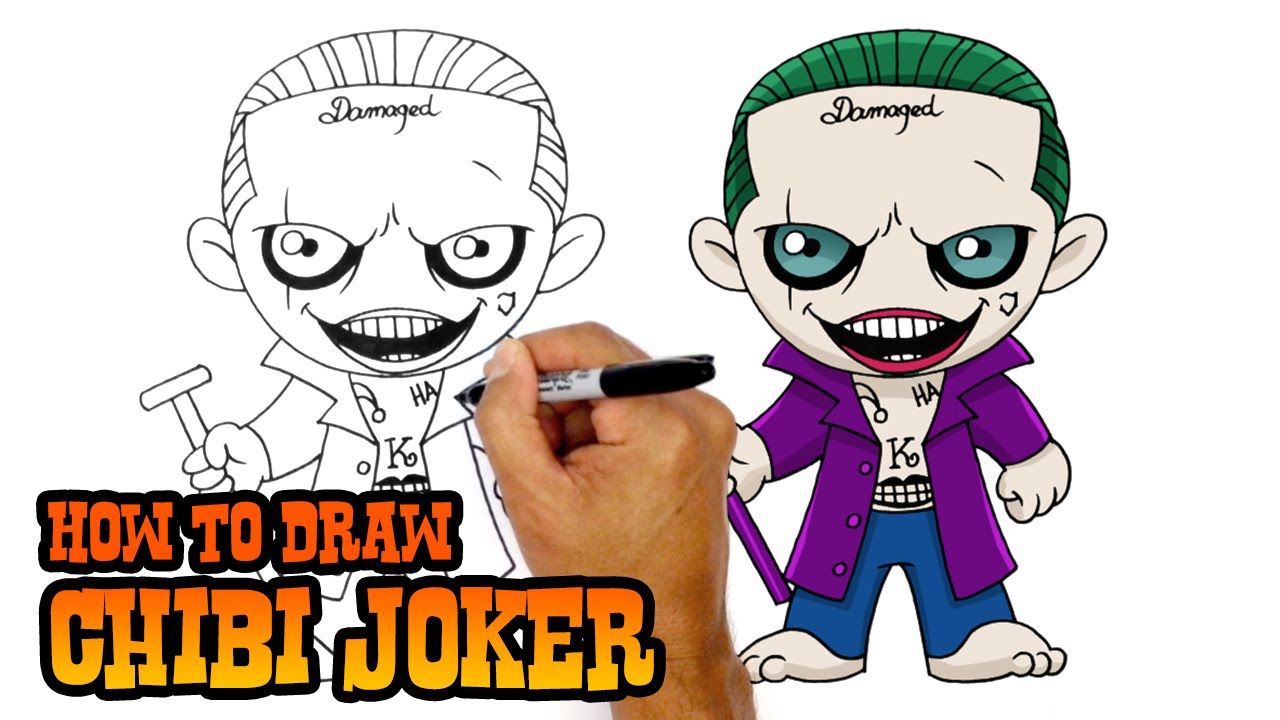 How To Draw Joker Suicide Squad Youtube