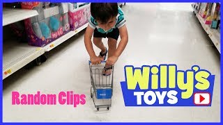 Random Clips of Willy Pushing a TINY Walmart Shopping Cart and Dropping a $9000 NAO Robot FUNNY
