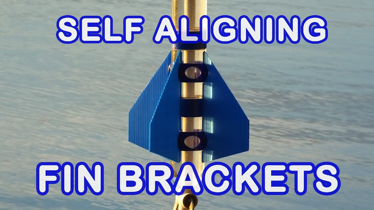 Water Rocket 3D Printed Fin Brackets