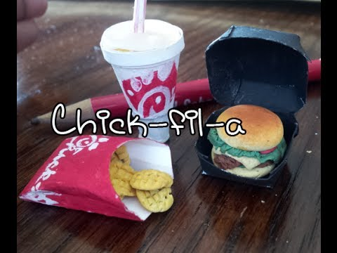 How To Make Doll Food Miniatures Spicy Chick Fil A
