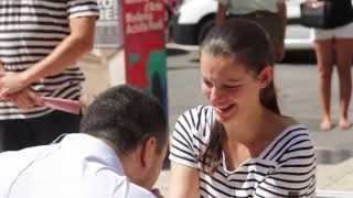 Engagement flashmob Jasna   Emmanuel VR 18 07 2014
