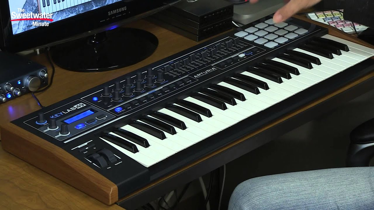 arturia keylab 49 limited edition black keyboard controller review by sweetwater youtube. Black Bedroom Furniture Sets. Home Design Ideas