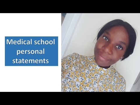 UK MEDICAL SCHOOL PERSONAL STATEMENTS || Sam Forde