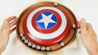 Magnetic Accelerator in a Circle, with the shield of Captain America | Magnetic Games
